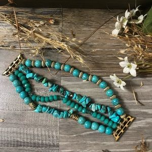 Apple Watch band natural turquoise boho style